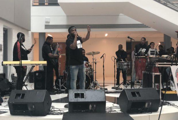 Host Yaddiya at the Duke Ellington High School